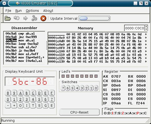 i8086emu - a cross platform intel 8086 emulator